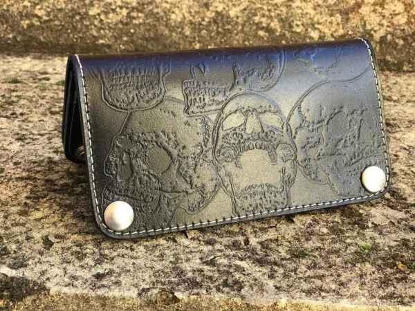 Custom SkullsCompilation Leather Wallet