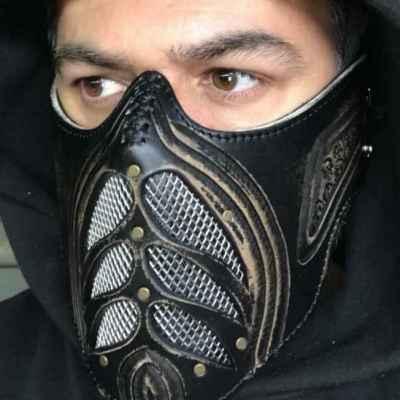 Custom Black Face Shield