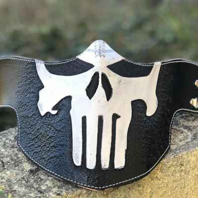 White Punisher Face Shield