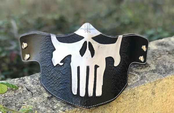 White Punisher Face Shield