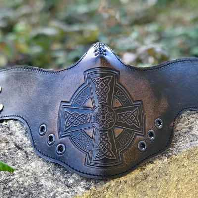 CelticCentral Vintage Black FaceShield