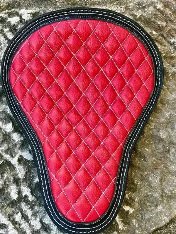 Custom Leather RedDiamonds Seat