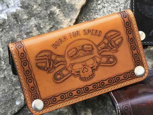 Custom BornForSpeed Leather Wallet
