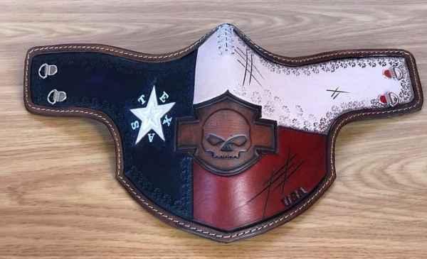 Custom Texas Face Shield