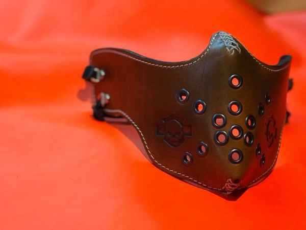 Custom Brown Face Shield