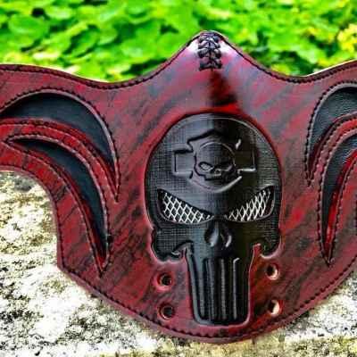 Custom Punisher Camouflage Face Shield