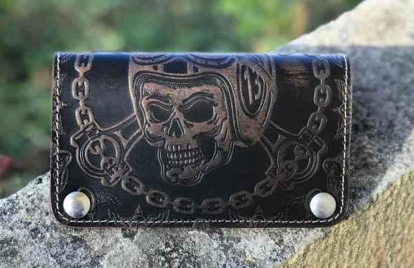 Custom Skull Chain Wallet