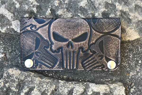 Custom Punisher OldBlack Wallet