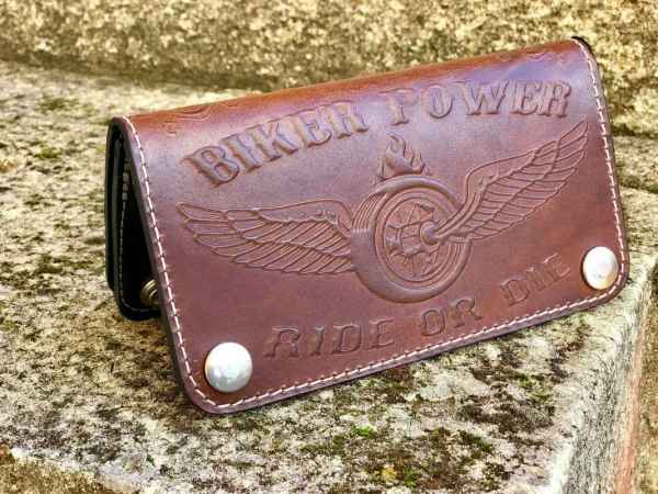 Custom Biker Power Wallet