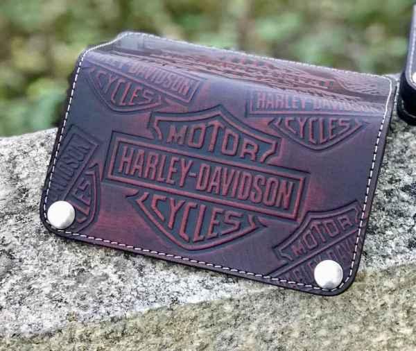 Custom Black&Red Long Wallet