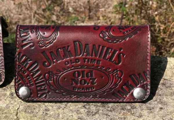 Custom black&Red Leather Wallet