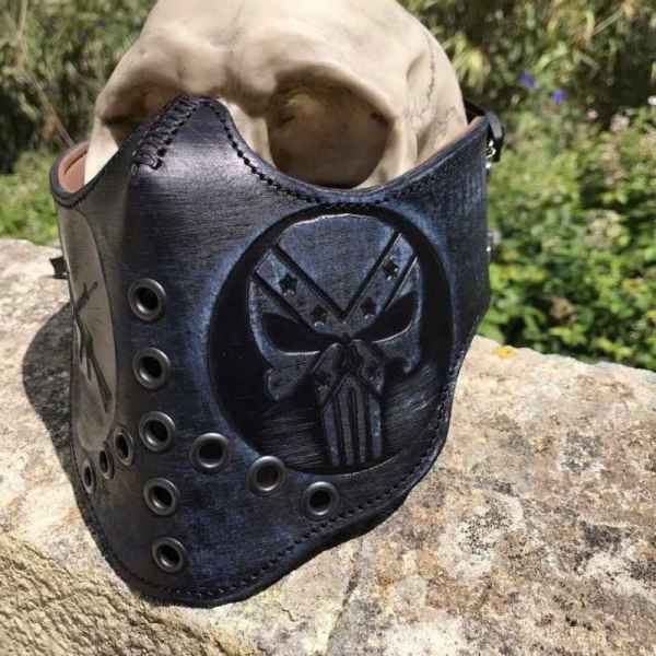 Custom Leather Face Shield