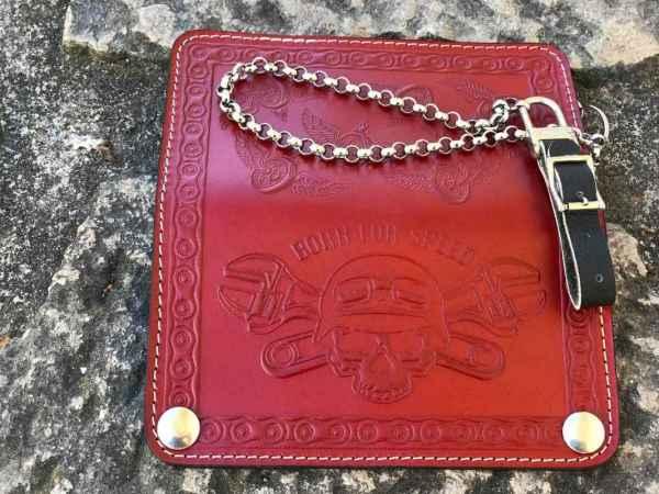 Custom BornForSpeed Red Wallet