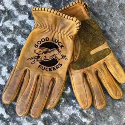 Custom GoodLuck Leather Gloves