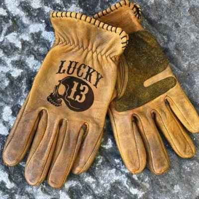 Lucky 13 Skull Gloves
