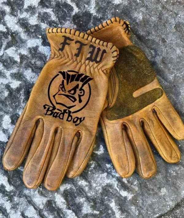 Custom BadBoy Leather Gloves