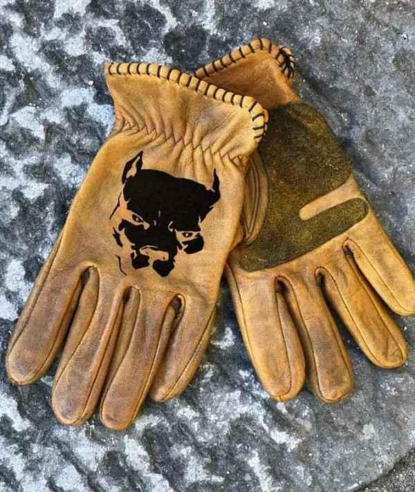 Custom Pitbull Leather Gloves