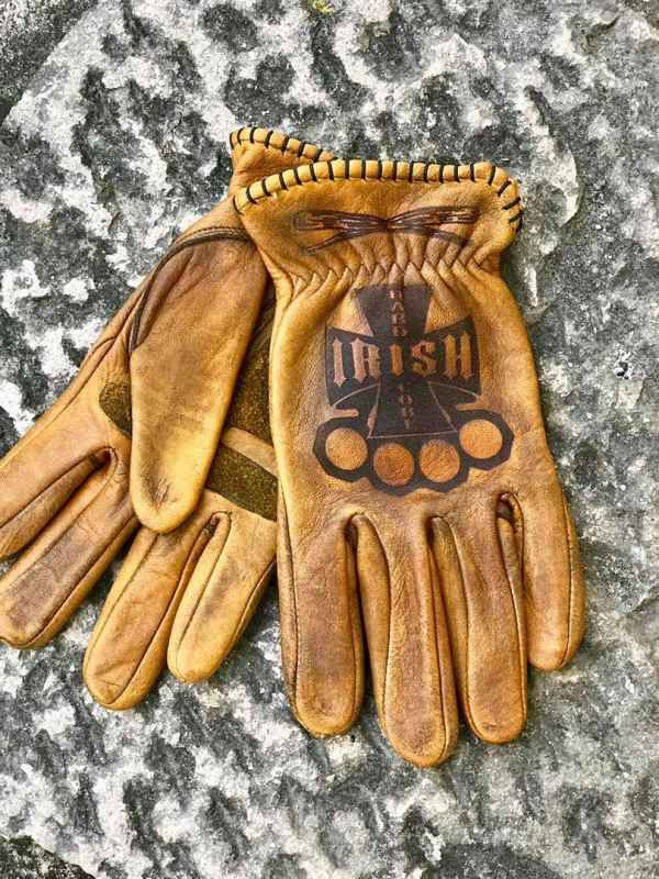 Custom Leather Irish Gloves For Motorcycle
