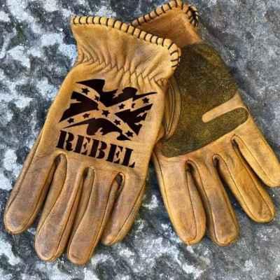 Custom Rebel Leather Gloves