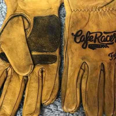 Custom CafeRacer Leather Gloves