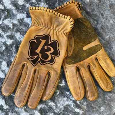 Custom Lucky13 Leather gloves