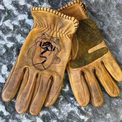 Custom Snake Leather Gloves