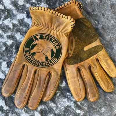 Custom Leather Riding Gloves