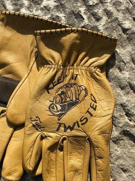 Custom KeepItTwisted Leather Gloves