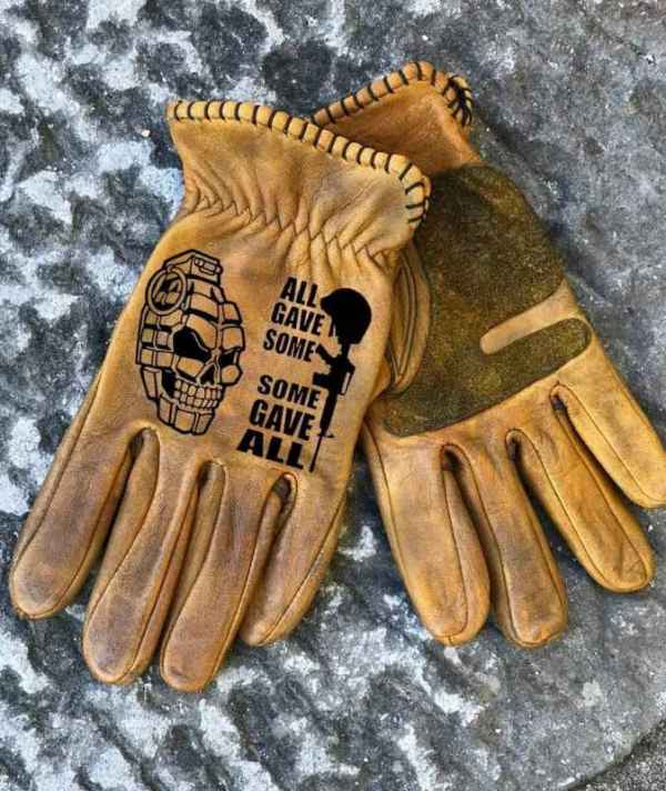 Custom AllGaveSome Leather Gloves
