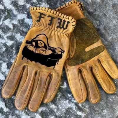 Custom FTWHooligan Leather Gloves