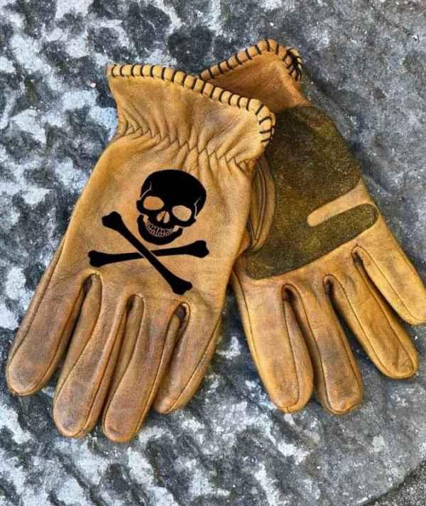 Custom Skull & Bones Gloves