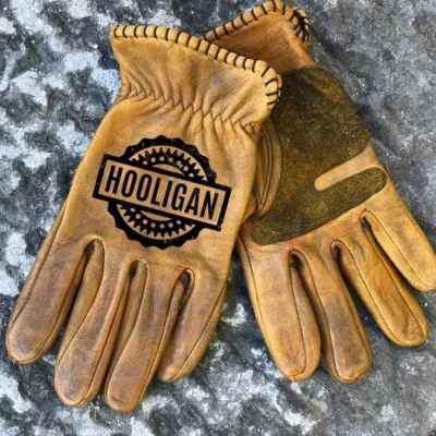 Custom Hooligan Leather Gloves