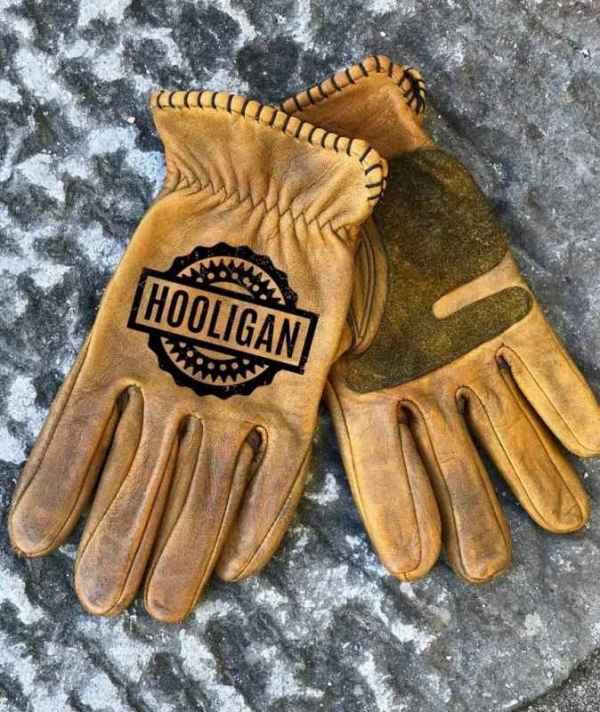 Custom Hooligan Leather Gloves