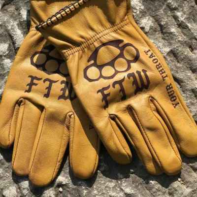 Custom FTW Leather Gloves