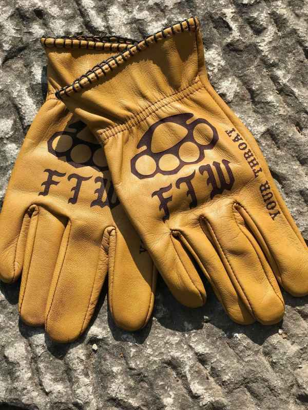 Custom FTW Leather Gloves