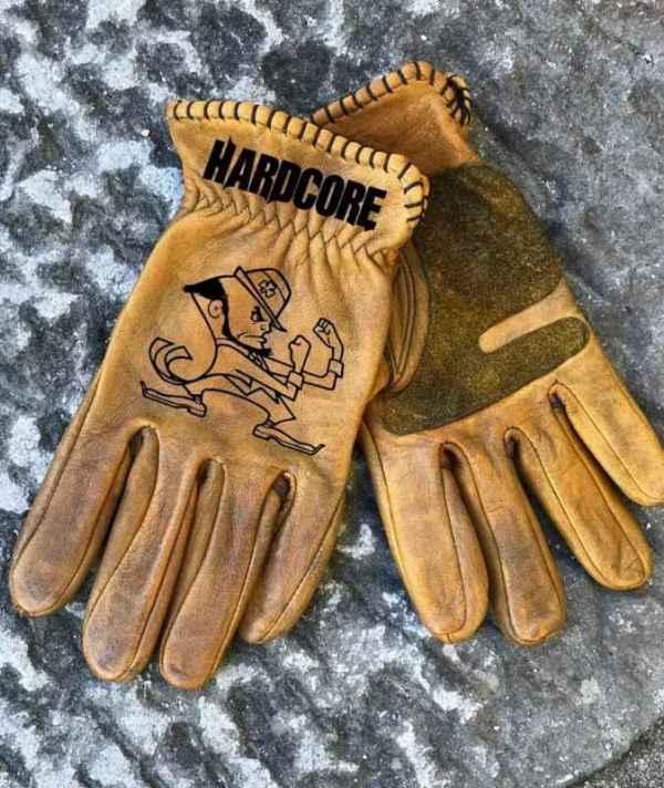 Custom FightingIrish Leather Gloves