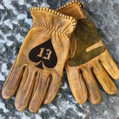 Custom Spades13 Leather Gloves
