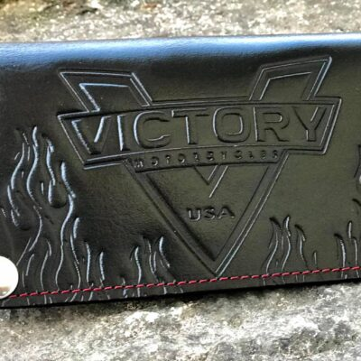 Custom Victory Black Wallet- Handmade Leather Products