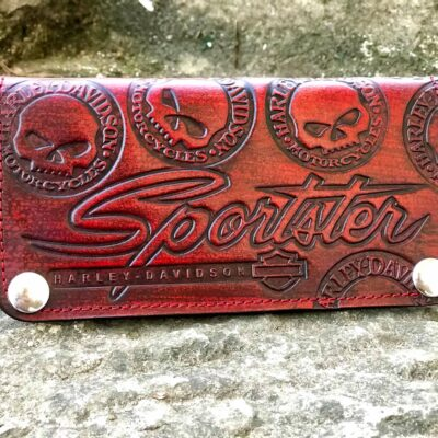 Custom Sportster Red Wallet