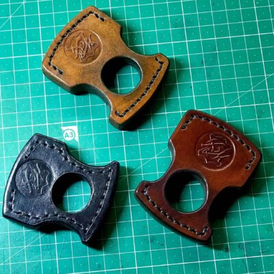 Solid Leather Knuckle Keychain